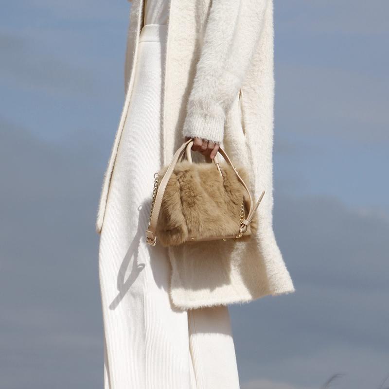 JACDBAG 小众设计 毛绒手提毛毛包