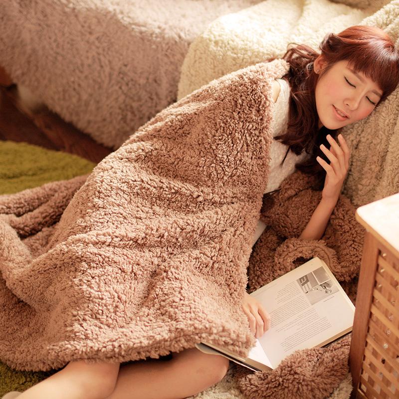 双层加厚法兰绒毯子办公室午休毯