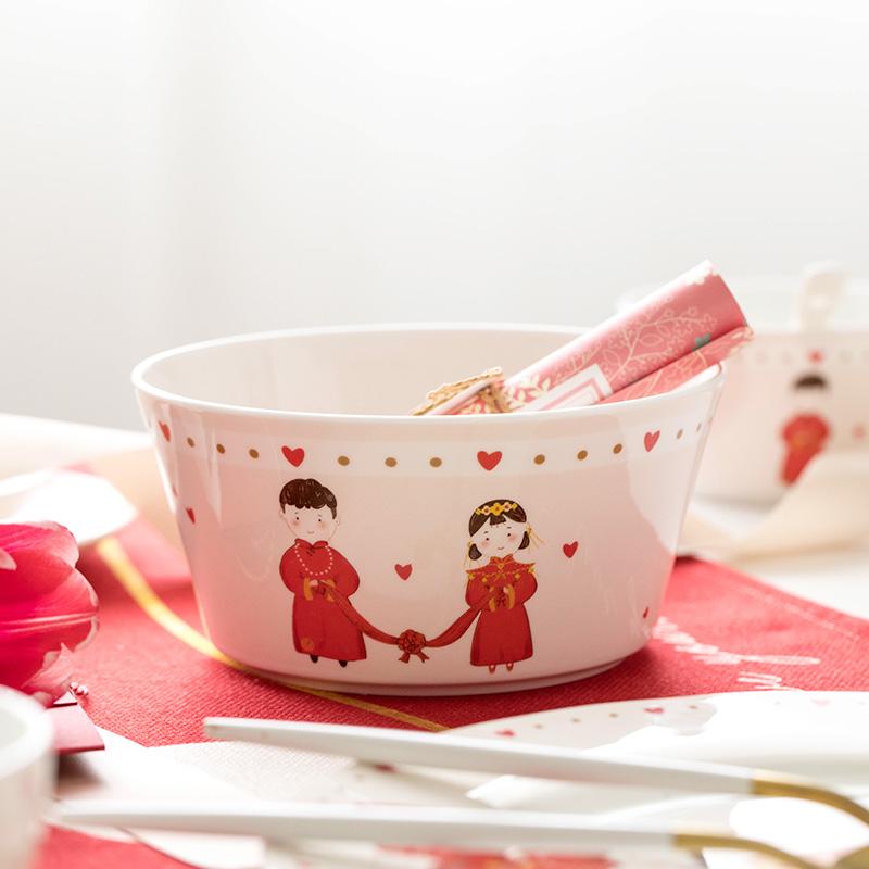 新婚喜庆碗筷套装礼盒