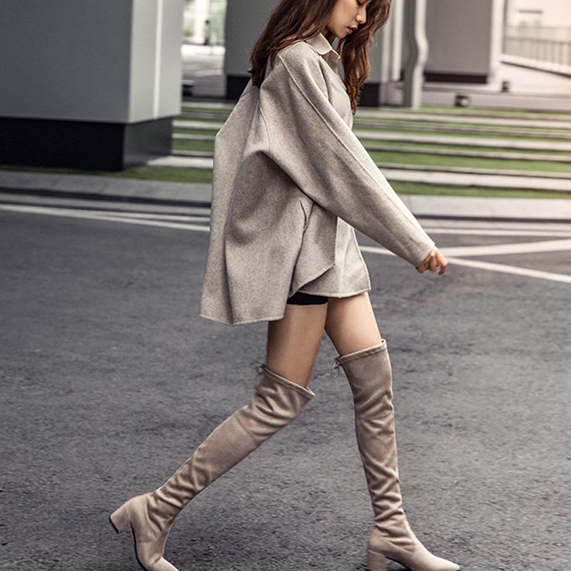 简女郎尖头长靴