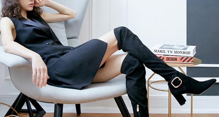 长腿利器 |每个女生都应该有一双过膝靴!
