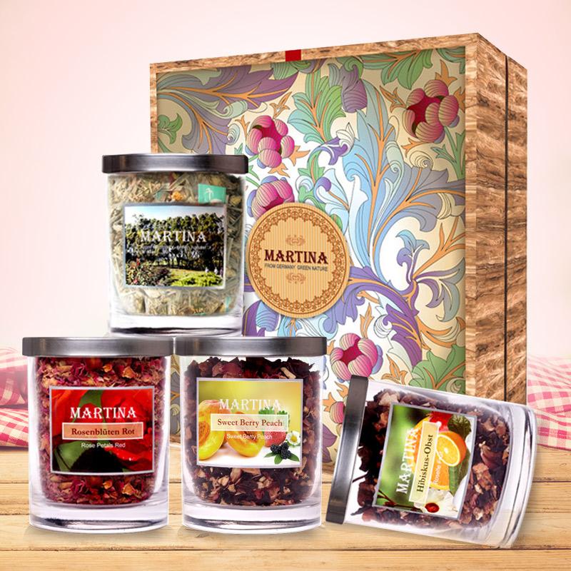 花茶礼盒 4瓶礼盒包装