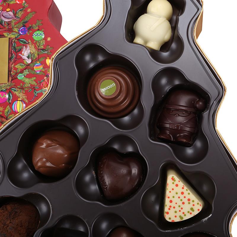 圣诞树形巧克力礼盒10颗装