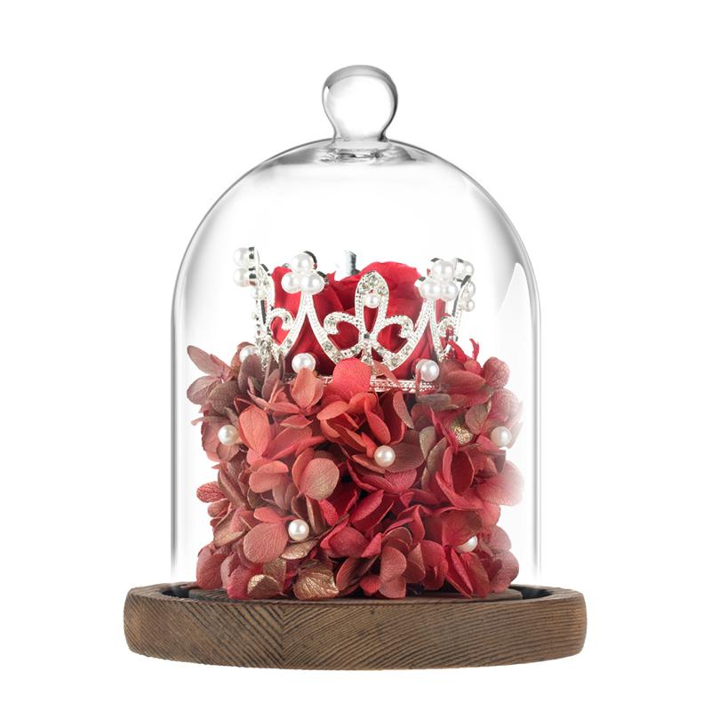 女王大人 永生花礼盒玻璃罩