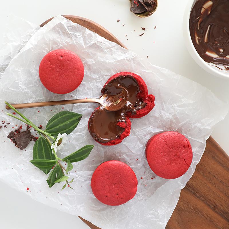 红丝绒熔岩蛋糕爆浆巧克力夹心软曲奇