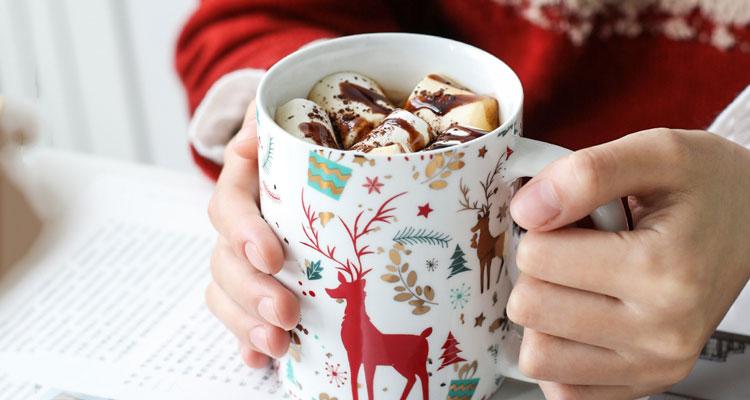 圣诞风马克杯,给你捧在手心的温暖