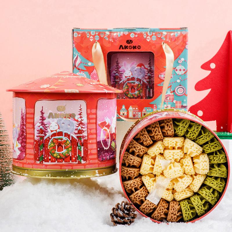AKOKO圣诞音乐盒云顶小花曲奇