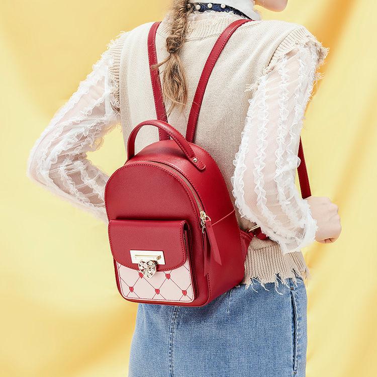 刺绣撞色韩版时尚双肩包