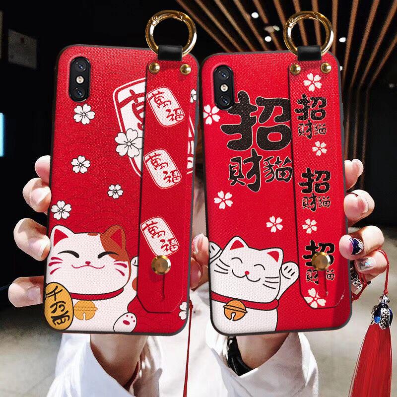 流苏腕带中国风苹果手机壳