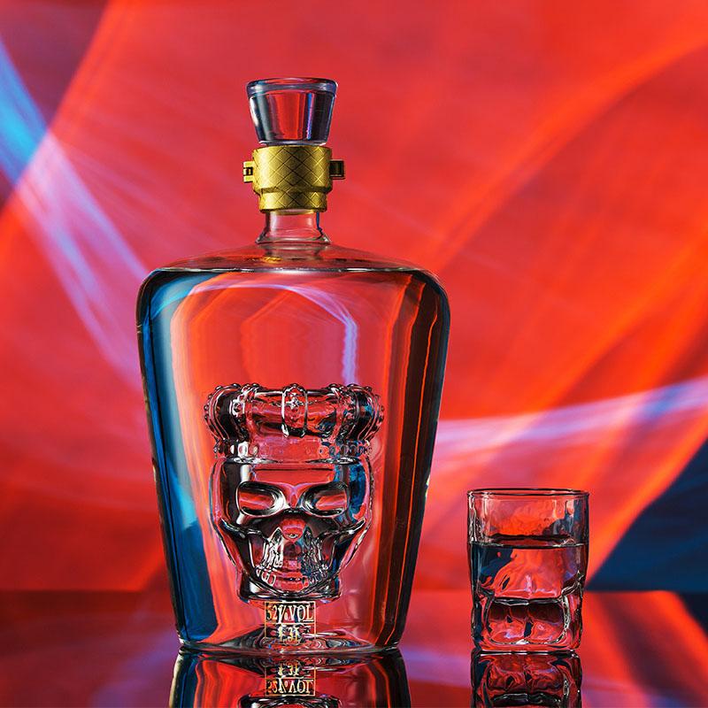送礼一杯情长纯粮食清香型52度高度白酒礼盒装1.3L