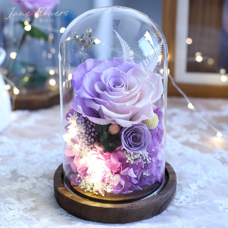 永生花玻璃罩礼盒