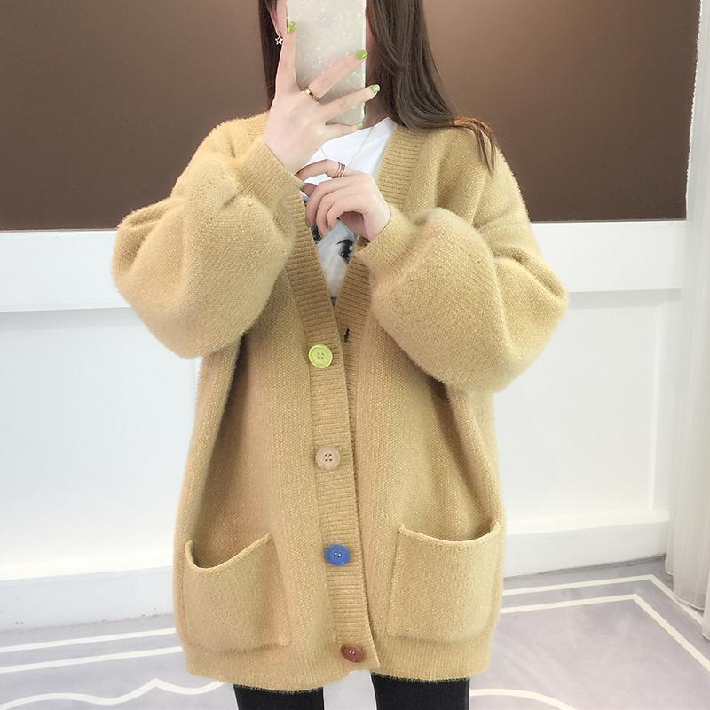 水貂绒毛衣春装外套
