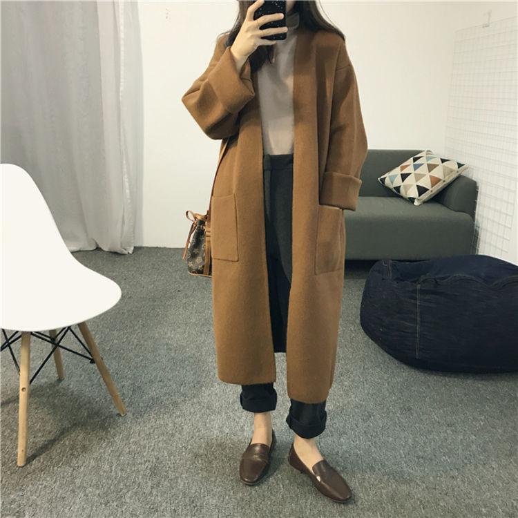 女式开衫中长款外套