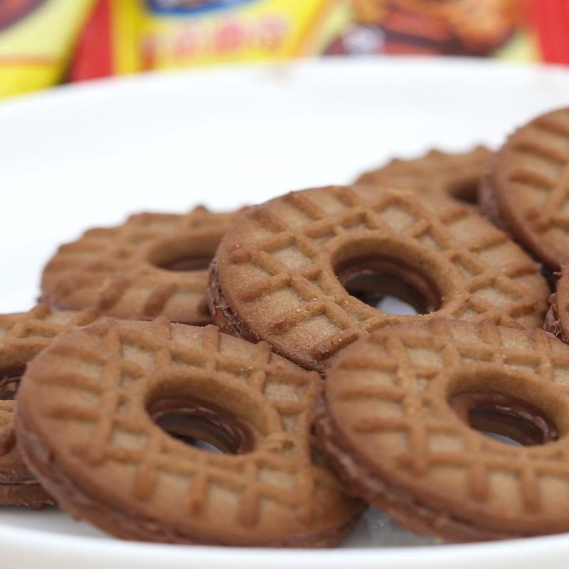 草莓多口味巧克力夹心曲奇饼