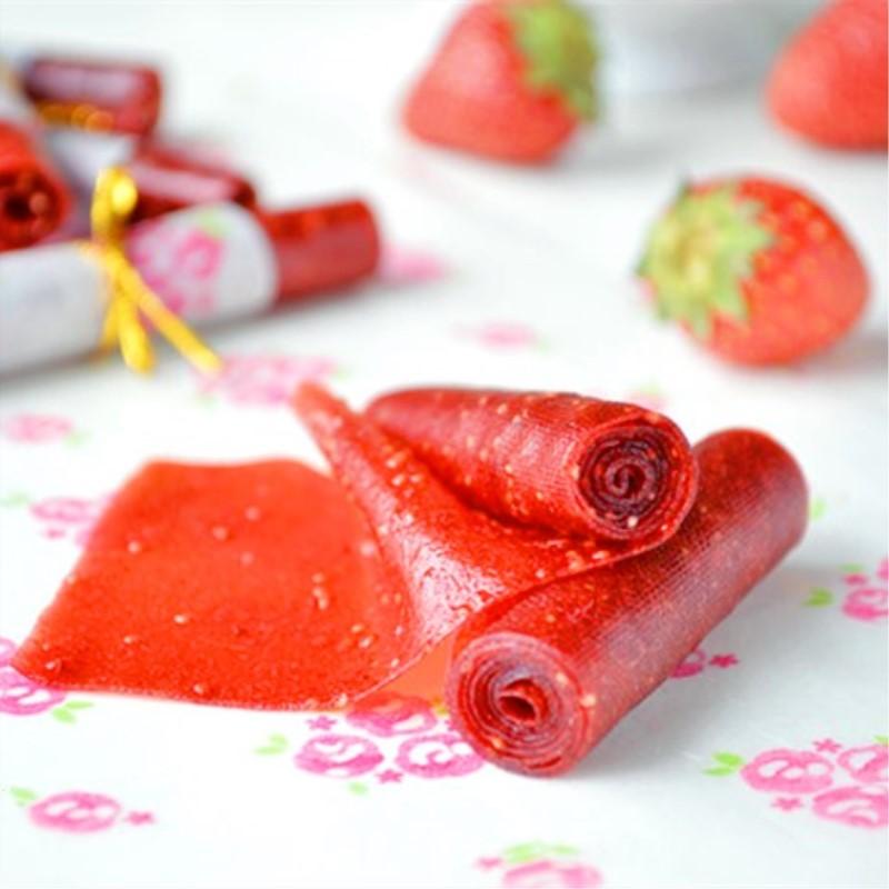 低甜果脯丹皮 手工烤新鲜草莓卷