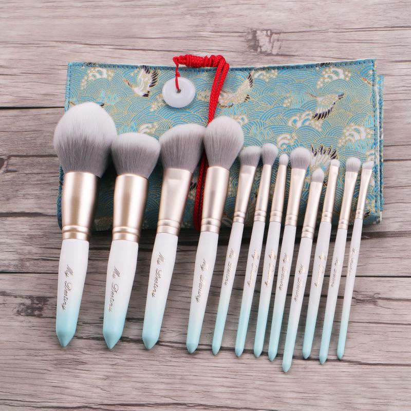 米蒂斯冰白蓝系列化妆刷套装