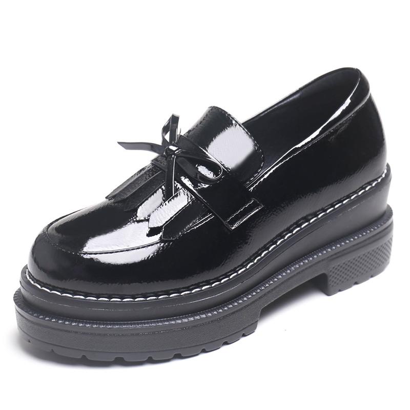 学生低帮厚底松糕单鞋