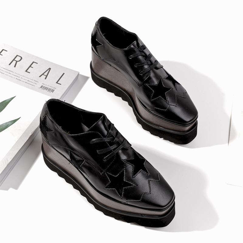 星星松糕鞋