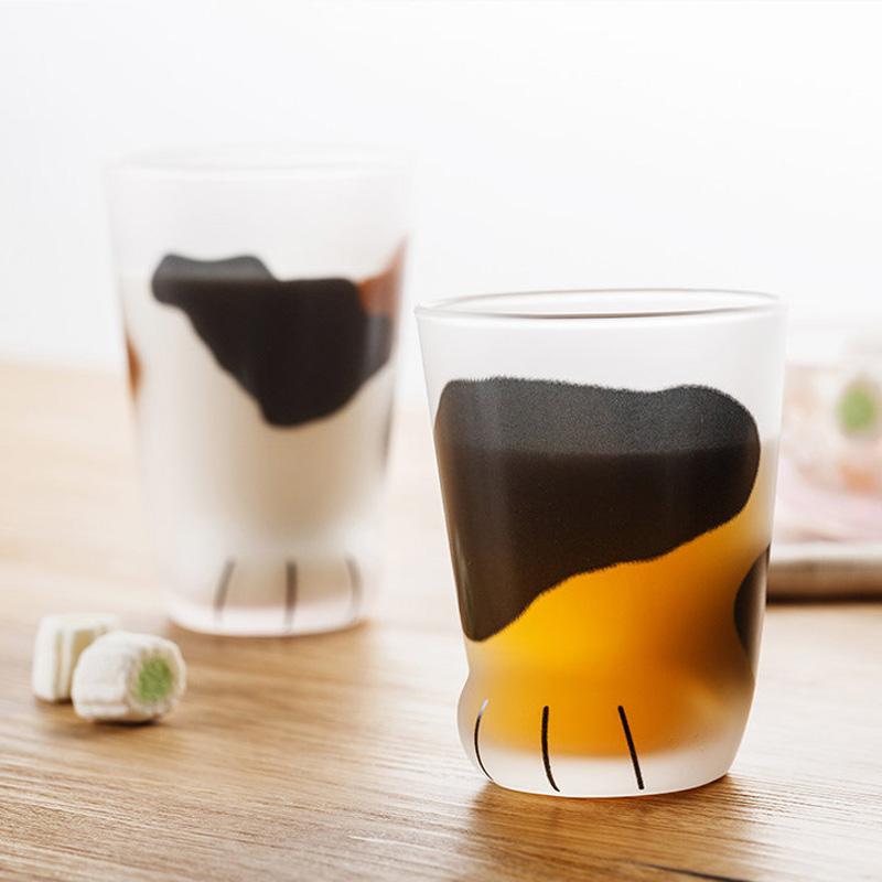 日本石塚硝子 超萌猫爪杯