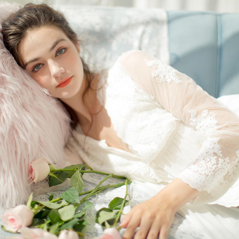 两件套公主浴袍性感吊带裙睡衣