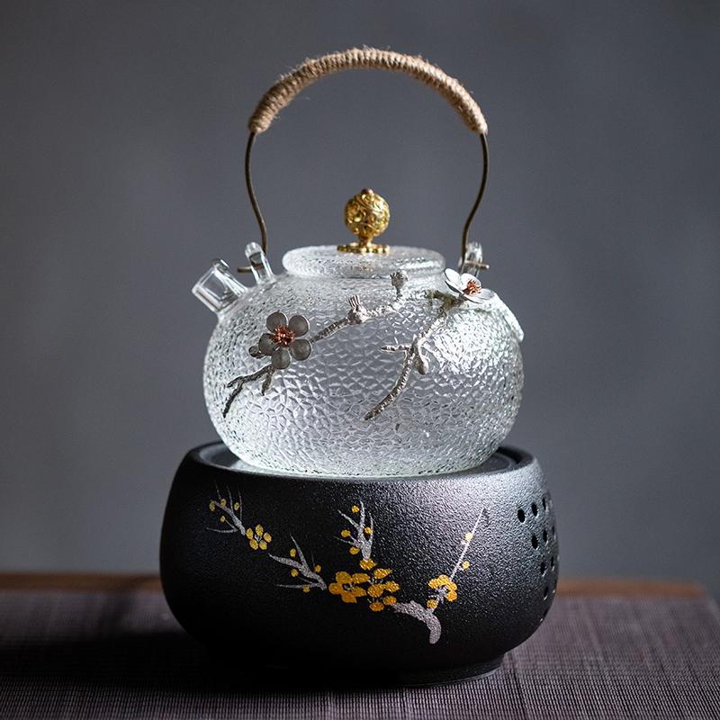 日式锤纹提梁壶