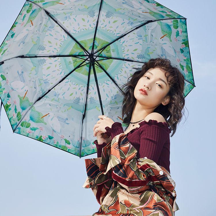 ,拒绝变黑妹,黑胶遮阳伞必须撑起来