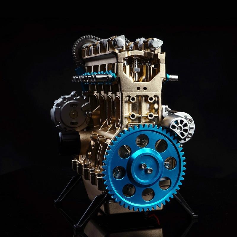 金属四缸发动机模型