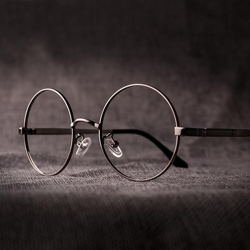 圆形文艺眼镜框