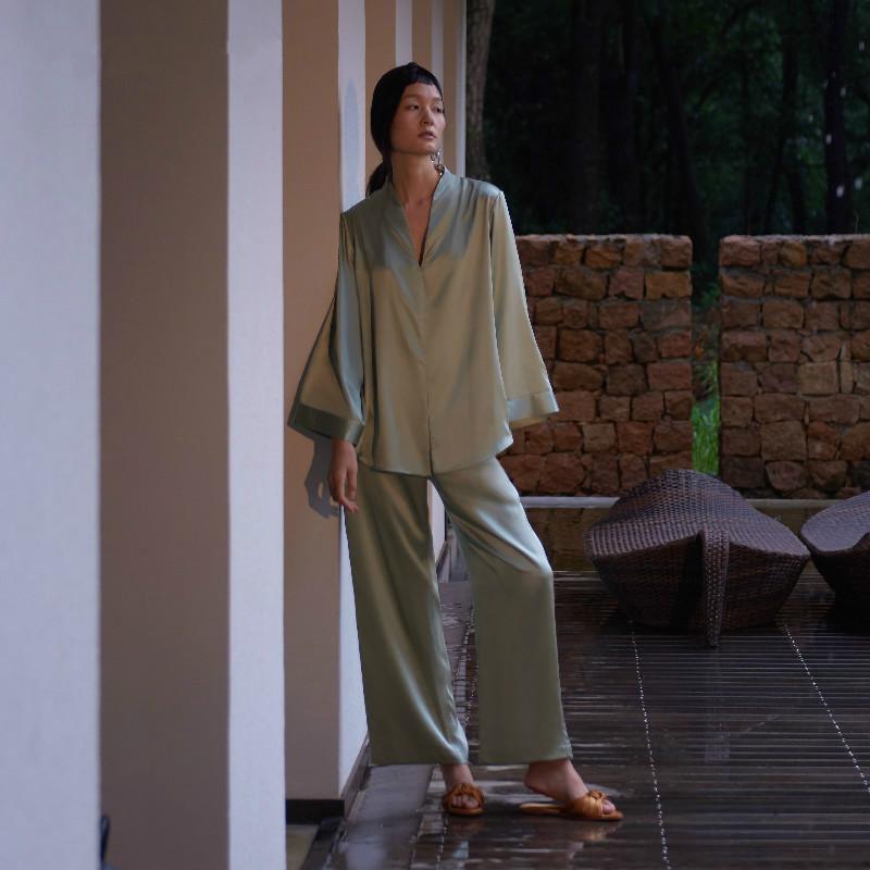 中式真丝睡衣