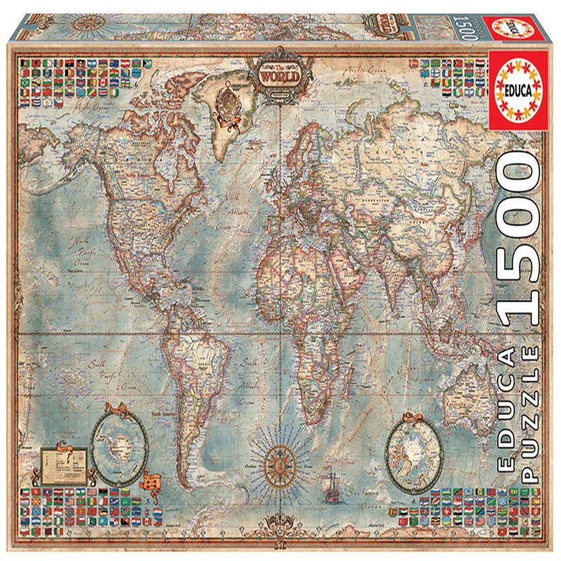 古世界地图拼图