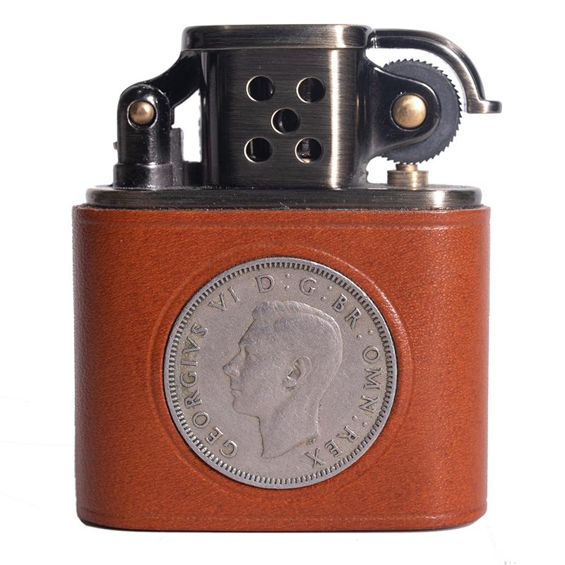纯铜复古煤油打火机