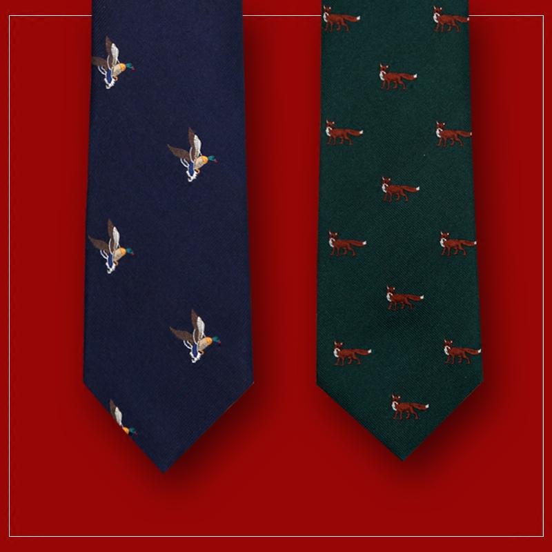 狩猎主题趣味领带