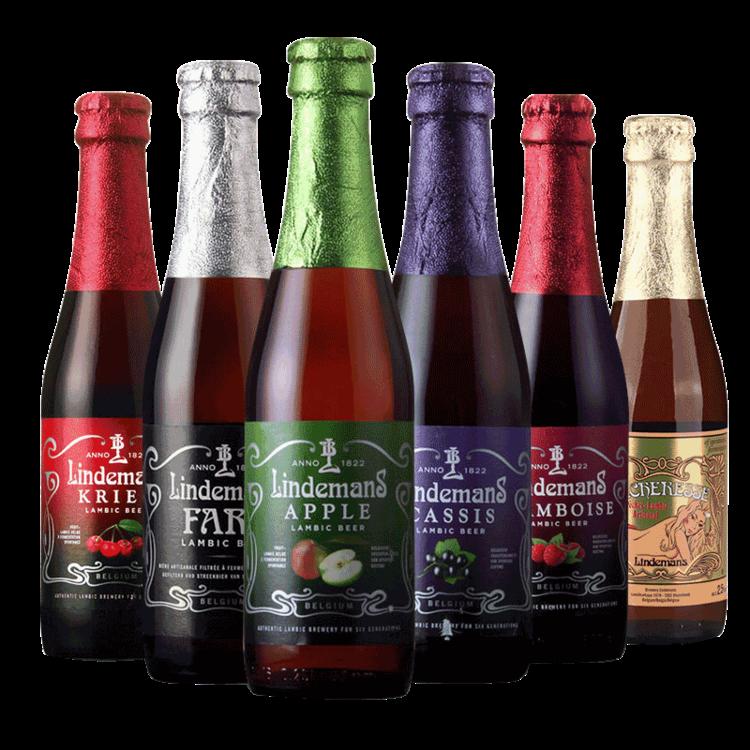 林德曼水果味啤酒6瓶组合装