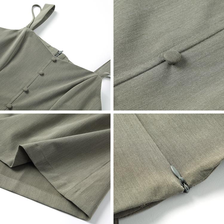 冷淡风吊带连衣裙