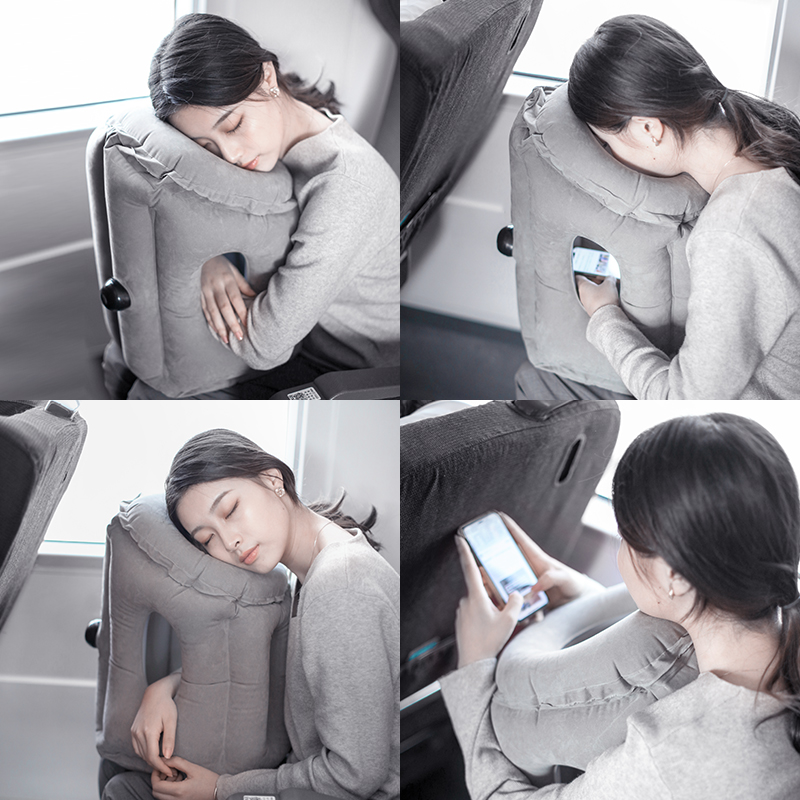 充气趴睡枕头