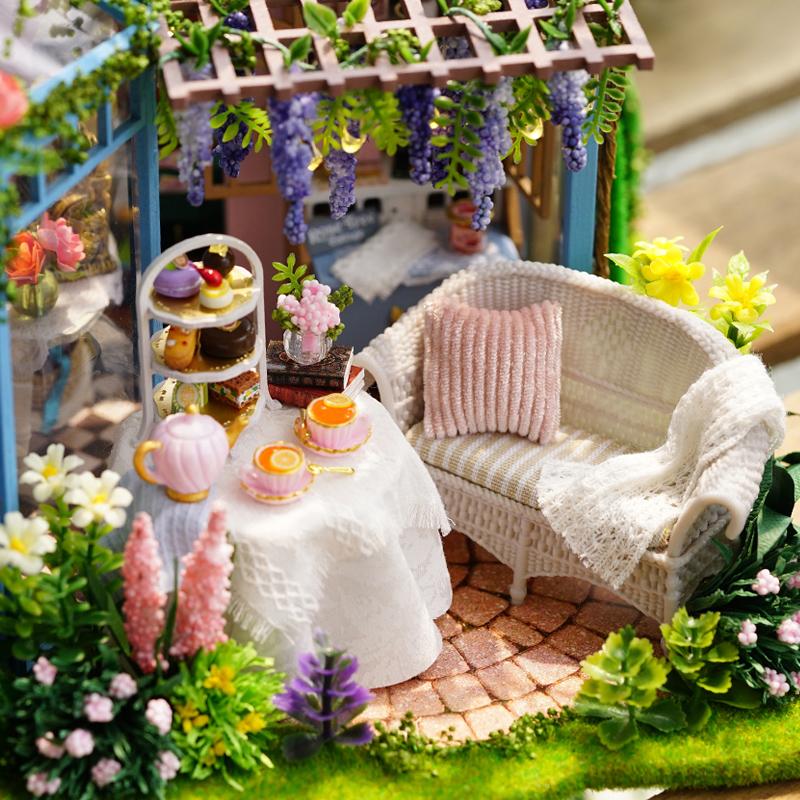 diy小屋 蔷薇庭园模型