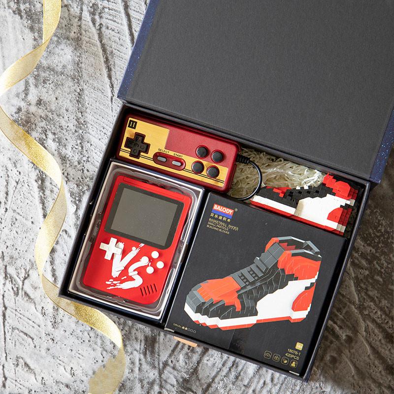 游戏机+AJ积木礼盒
