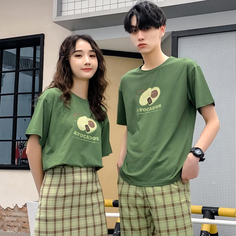 牛油果印花情侣T恤
