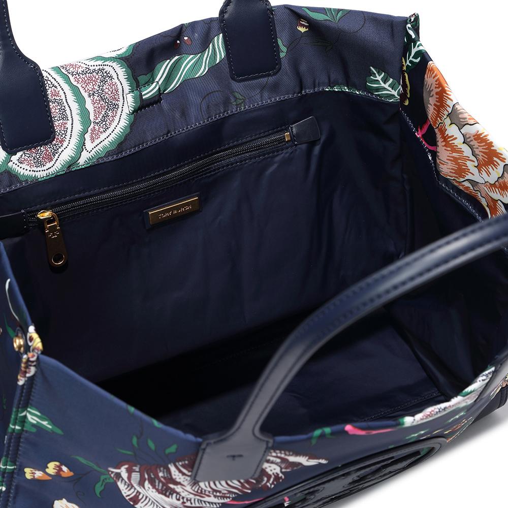 Tory Burch 蓝色印花优雅手提包