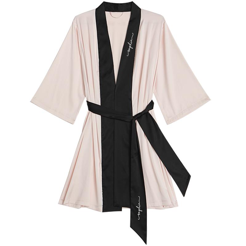 丝绸新娘晨袍