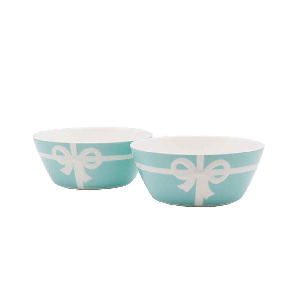 Tiffany 蝴蝶结骨瓷对碗礼盒