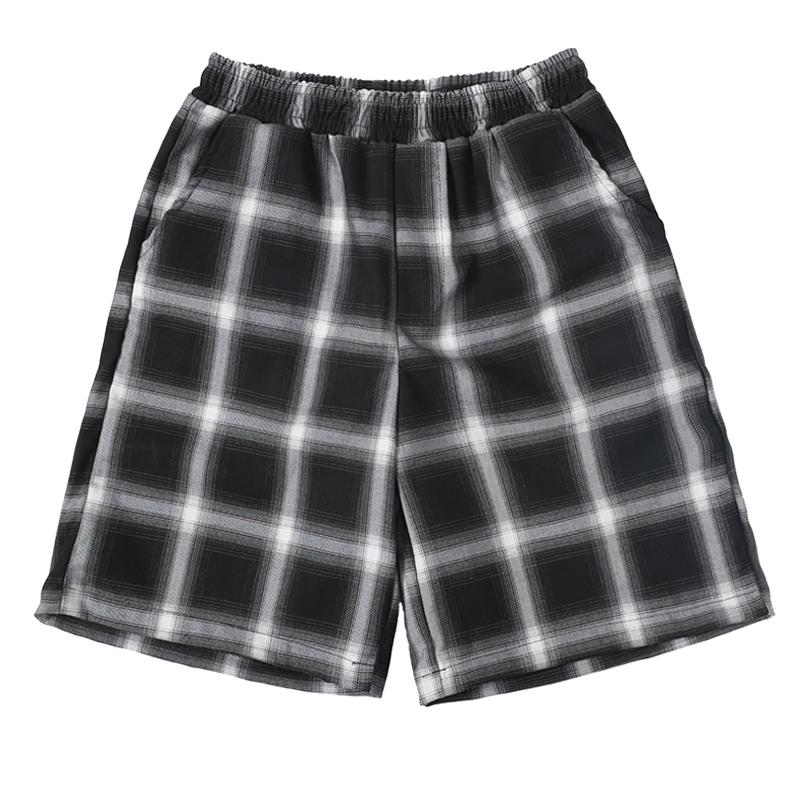 日系黑白格子短裤