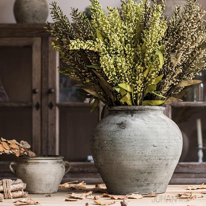 手工粗陶陶罐坛子花器