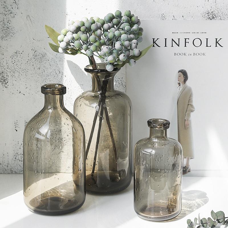 北欧ins透明气泡玻璃花瓶