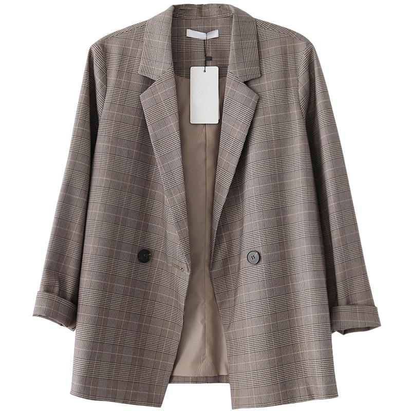 英伦风格纹西服外套