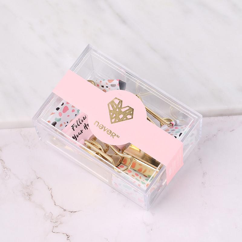 淡粉系列方盒票夹