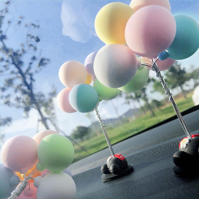 告白气球汽车摆件