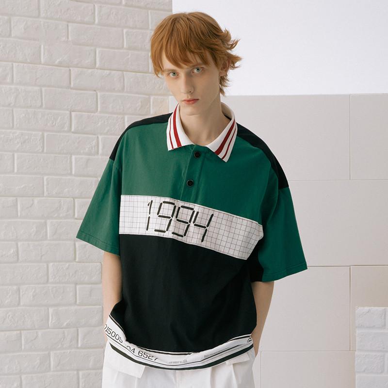 男女同款 1994撞色短袖polo衫