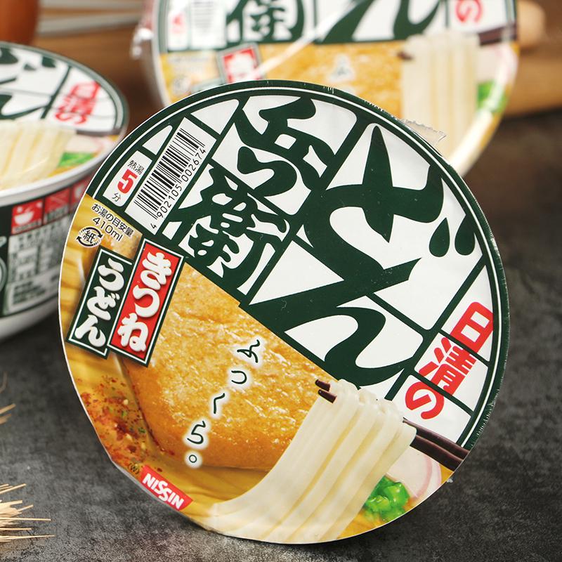 日清兵卫油豆腐葱味乌冬面