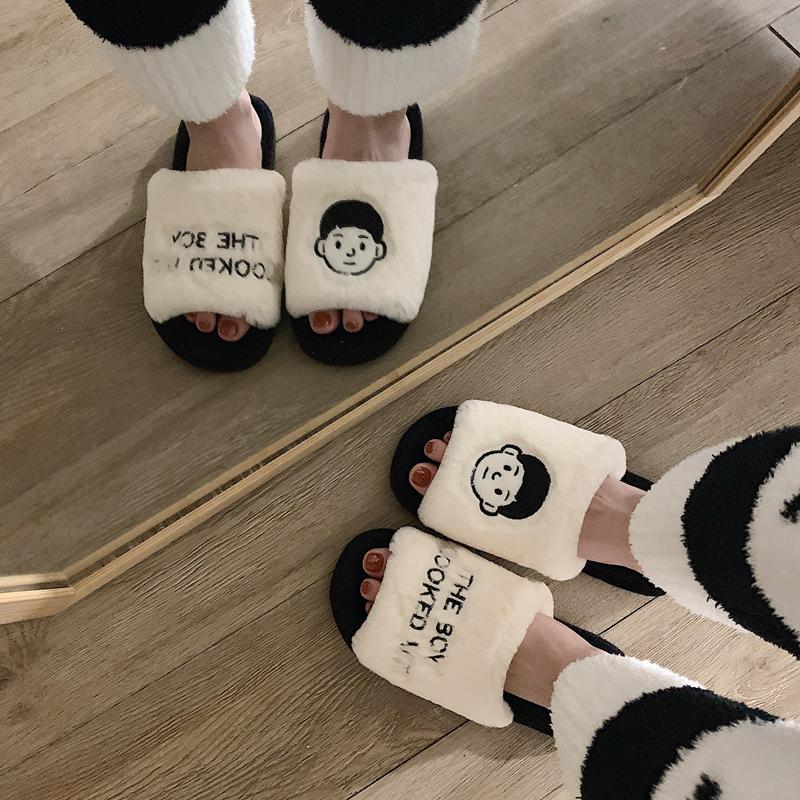 ins风 情侣棉拖鞋